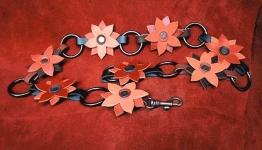 ceinture fleur avec anneaux métal
