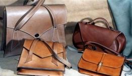 ensemble de sacs en cuir de vachette